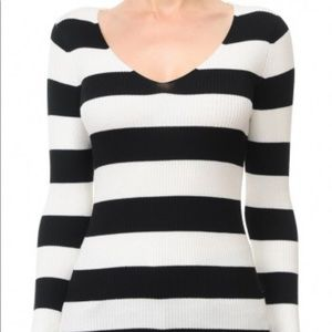V-Neck Jersey Sweater Top